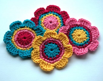 Crochet Motifs for Embellishment - Candy Colours