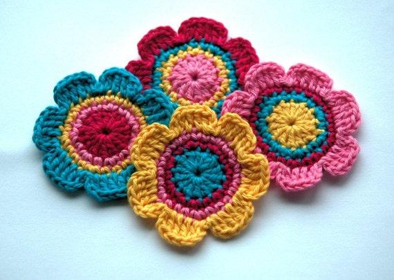 Crochet Motifs for Embellishment - Candy Colours