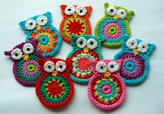 Como hacer buhos a crochet - Imagui