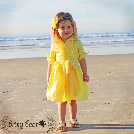 Yellow Tuxedo Dress for baby, toddler, and girl