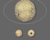 6 Stardust Glitter Ball Beads - 6mm Gold