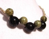 Tourmaline and Serpentine Necklace
