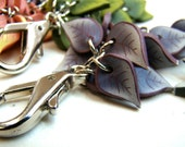 Purse Jewelry-- Purple Leaves