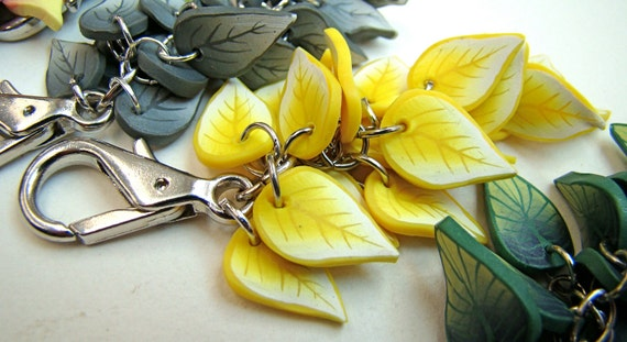 Purse Jewelry-- Yellow Leaves