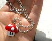 Last One - Power Up Charm Necklace - RED