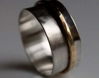 Silver and Brass Unisex Ring