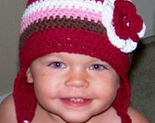Earflap Hat - Size 0 to 3 Months