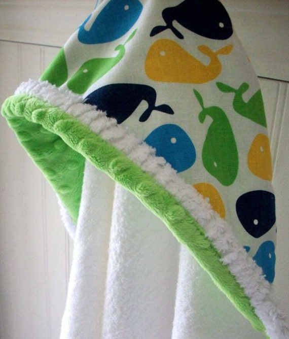 Baby hooded towels boys boy bath towel blue whale minky savvy request a custom order and have something made just for you negle Choice Image