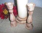 Rustic Barnwood Style Wood Unity Candle Set - Item 1211