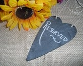 Hanging Primitive Heart Chalkboard Signs - Item 1182