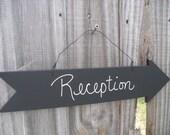 Chalkboard Arrow  Wedding Sign, Candy Bar Sign, Party Sign,Reception Chalkboard Sign ,Dessert Bar Photo Prop- Item 1337