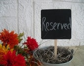 Chalkboard Squares on a Stick for Table Numbers Signs Photo Props - Item 1027