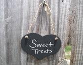 Chalkboard Heart -  ONE MEDIUM Hanging Heart Chalkboard Sign - Item 1125