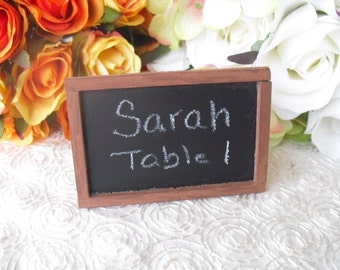 Rustic Mini Chalkboard Place Card or Escort Cards - Item 1162