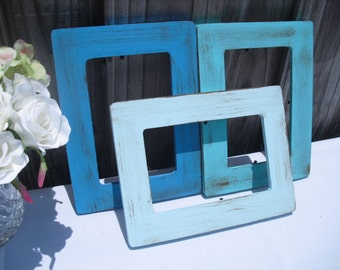 Frames -  Painted and Distressed Wood Frames for Table Numbers and Signs - You Pick Color - Item 1246