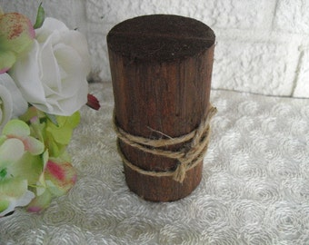 Table Number Holder -  Rustic Wooden Table Number Holder - Item 1129