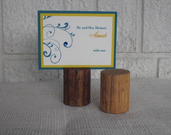 Wood Place Card Holders - Set of 10 - Item 1001