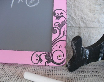 Chalkboard - SMALL Vintage Glam Damask Chalkboards with EASELS for Signs and Table Numbers or Photo Props - Item 1168