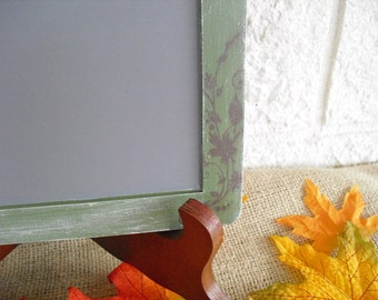 ONE LARGE Fall Shabby Chic Chalkboard with EASEL for Signs and Table Numbers or Photo Props - Item 1189