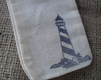 Favor Bags - SET OF 10 3x5 Coastal Beach Lighthouse Favor Bags Gift Bags or Candy Bags - Item 1289