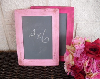 Chalkboards - SMALL Shabby Chic Rustic Distressed Chalkboards for Signs and Table Numbers or Photo Props (You Pick Color) - Item 1281