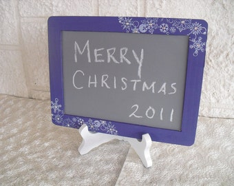 MEDIUM Winter Snowflake Chalkboards with EASELS for Signs and Table Numbers or Photo Props - Item 1282