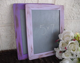 MEDIUM Shabby Chic Rustic Distressed Chalkboards for Signs and Table Numbers or Photo Props (You Pick Color) - Item 1135