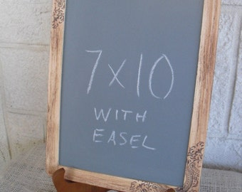 Chalkboard with Easel, Rustic Western Paisley  for Signs and Table Numbers or Photo Props -One large- Item 1004