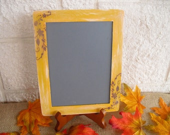 MEDIUM Fall Shabby Chic Chalkboards with EASELS for Signs and Table Numbers or Photo Props - Item 1277