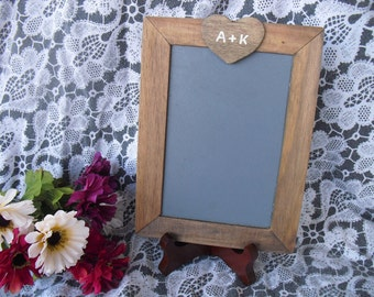 SMALL Rustic Personalized Chalkboards with EASELS for Signs and Table Numbers or Photo Props - Item 1376