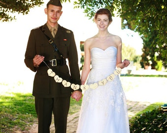 Thank You Wedding Photo Prop Wood Heart Banner - Item 1214