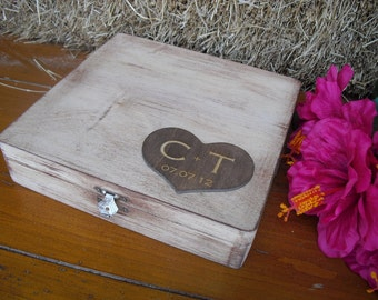 Wedding Guest Book Alternative Rustic Wood Personalized Engraved Set for 50 guests - Item 1319