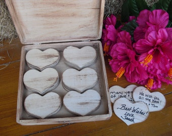 Engraved GUEST BOOK ALTERNATIVE Rustic Wedding Wood Personalized Set for 75 guests - Item 1293