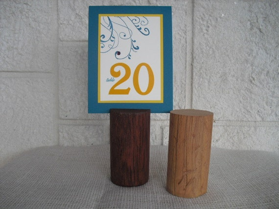 Table Number Holder  - Rustic Wood Table Number Holders - Item 1046