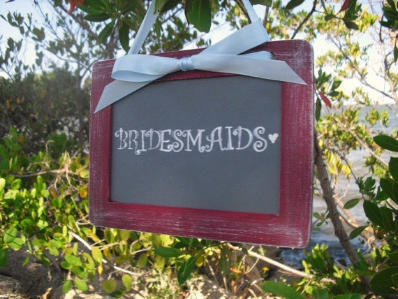 ONE Hanging Chalkboard Sign, Photo Prop, Table Number, Bridal Suite (You Choose Colors) - Item 1145
