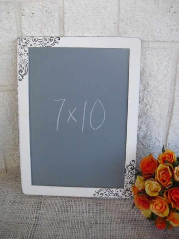 ONE LARGE Shabby Chic Damask Chalkboards for Signs and Table Numbers or Photo Props,Great Designer Chalkboards - Item 1220