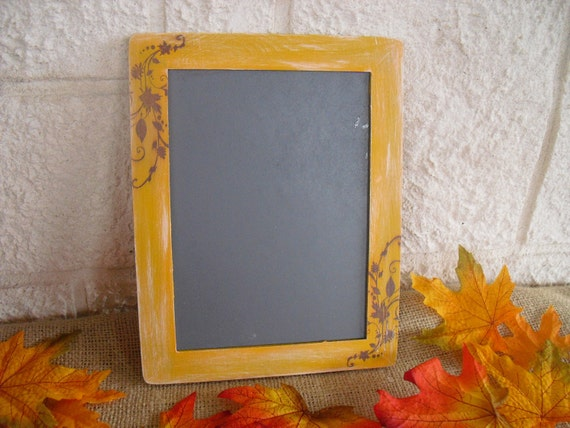 MEDIUM Fall Shabby Chic Chalkboards for Signs and Table Numbers or Photo Props - Item 1312