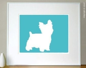 Mod Yorkshire Terrier Dog - 8x10 Art Print