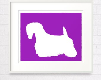 Mod Sealyham Terrier - 8x10 Dog Fine Art Print