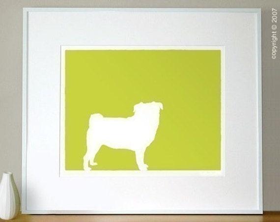 Mod Pug Fine Art Print - 8x10