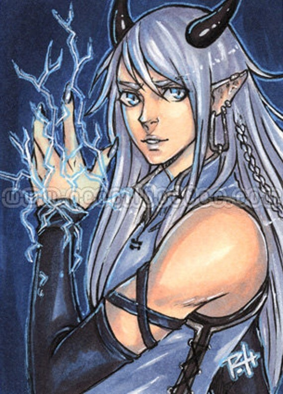 ACEO Print - Blue Lightning - Limited Edition  01/25