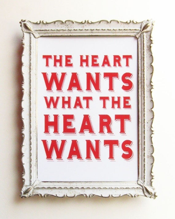 what the heart wants emily dickinson quote 5 x 7 love