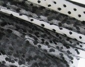 "Black spot tulle fabric - 44"" wide - sold per metre"