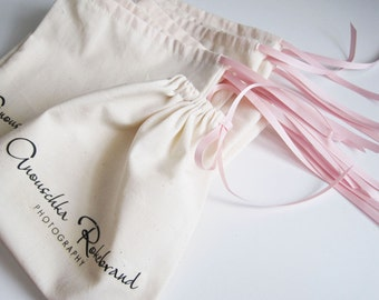 Large - custom printed cotton pouches