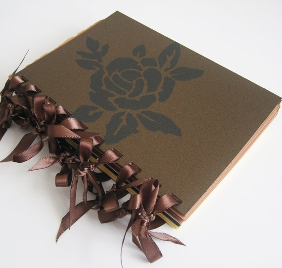 Chocolate & Cream Rose - blank notebook