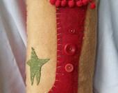 Vintage Style Christmas Stocking Pillow