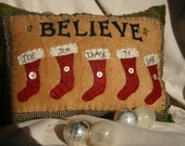 Believe in Christmas Pillow