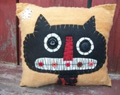 SpOOky Black Cat Pillow
