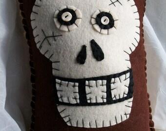 Skeleton Face Pillow