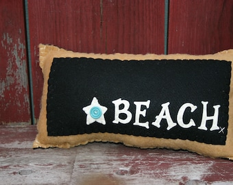Black and White Beach Pillow